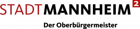 Das Bild zeigt das Logo des Oberbürgermeisters von Mannheim mit dem Schriftzug Stadt Mannheim Der Oberbürgermeister.